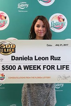 Orlando teen buys $1 lottery ticket at Publix, wins $26K a year for life