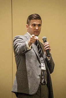 White supremacist Richard Spencer drowned out by shouts at UF speech