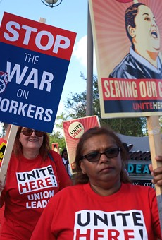 Deputies break up rally of Disney union workers demanding living wages