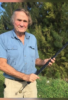 Gary Bachmann with the recovered sword