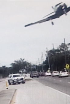 Sheriff dash-cam films plane making emergency landing in Florida neighborhood