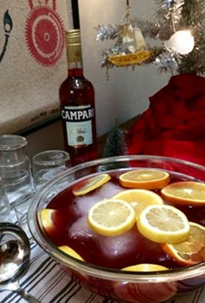 A punchbowl full of Negroni ingredients does not make a good holiday punch, but here's what does