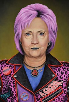 Orlando artist's Hillary Clinton portrait sets off security dogs at Art Miami