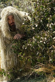 "The infamous ghillie suit from ""Last Man On Earth"""