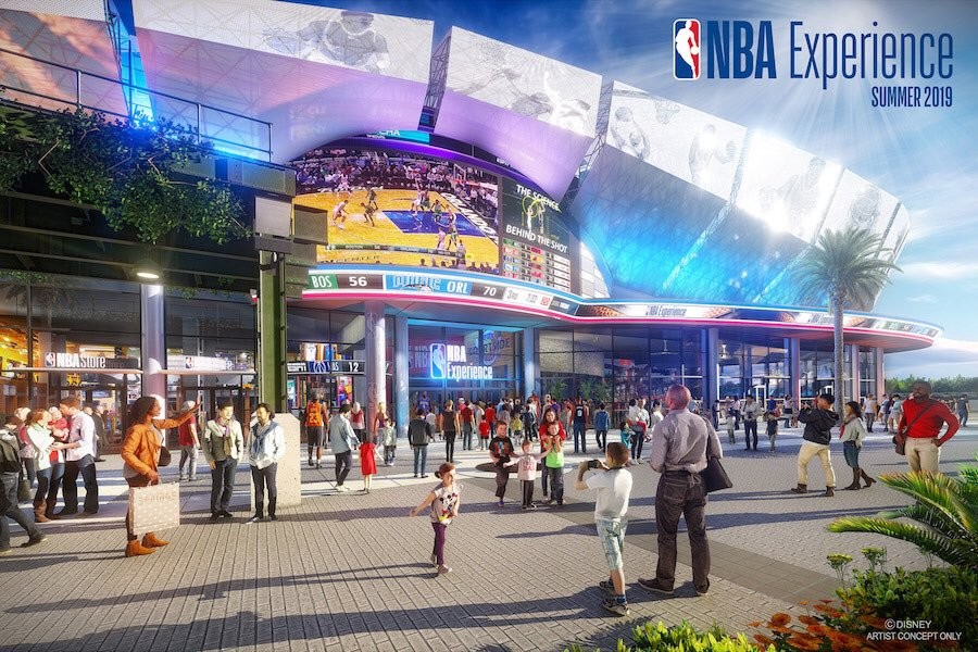 The NBA Experience, slated to open in Summer 2019 - IMAGE VIA DISNEY PARKS BLOG