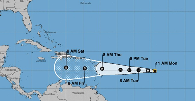 Tropical Storm Isaac Moves Closer To Lesser Antilles