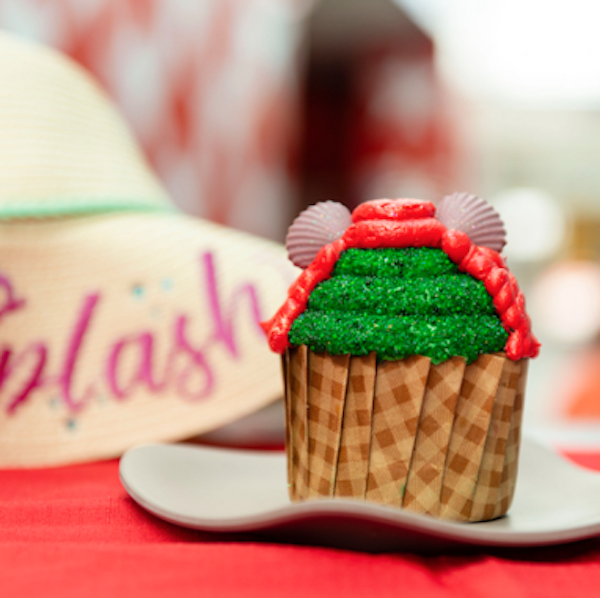 Ariel Cupcake at Intermission Food Court in Disney's All-Star Music Resort - PHOTO VIA WALT DISNEY WORLD