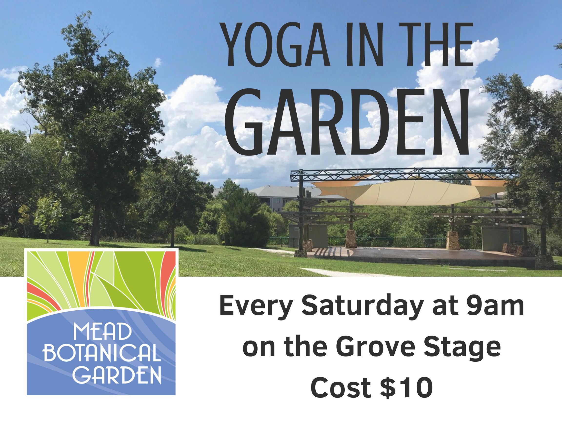 Yoga in the Garden | Mead Garden | Sports | Orlando Weekly