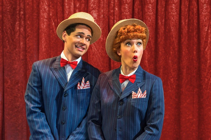"Euriamis Losada (Ricky Ricardo) and Thea Brooks (Lucy Ricardo) in the national tour of ""I Love Lucy Live on Stage"" - PHOTO BY JUSTIN NAMON VIA ILOVELUCYLIVE.COM"