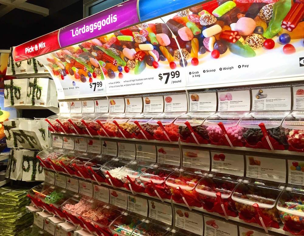 Inside look salty sweet treats at the ikea candy bar blogs for Ikea jobs orlando fl