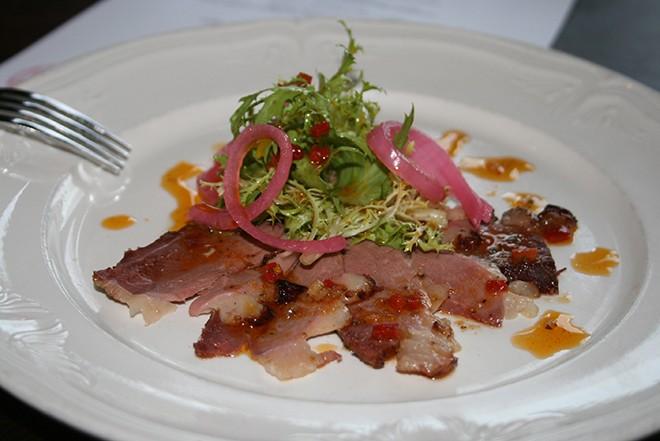 Chorizo Spiced Duck Carpaccio - BREANNA MCCOLLUM