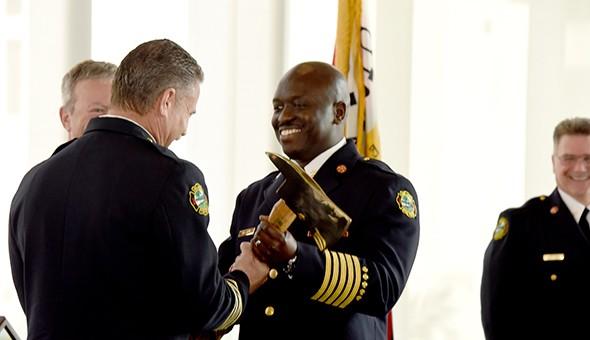 Chief Roderick Williams, right. - PHOTO VIA CITY OF ORLANDO