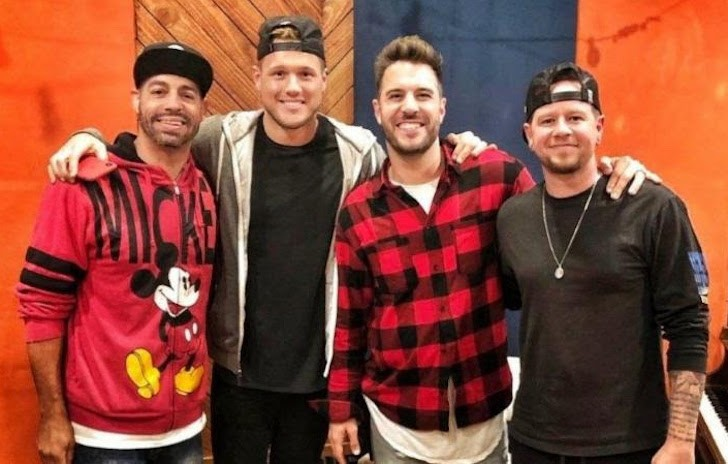 Members of O-Town with Colton Underwood - PHOTO VIA ADRENALINE PR