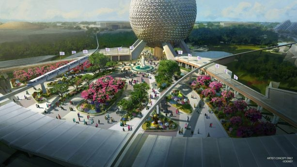 c4a477ee5ba91 click to enlarge Epcot's planned redesigned entrance - CONCEPT ART VIA  DISNEY
