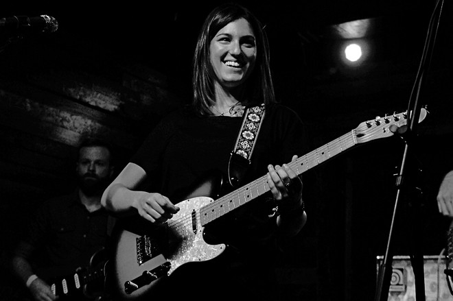 Emily Kopp at Backbooth - JIM LEATHERMAN