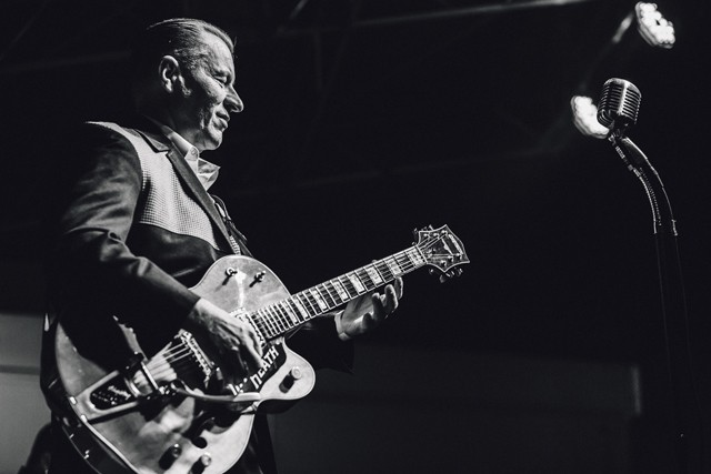 The Reverend Horton Heat at Southern Fried Sunday's 10th anniversary (Will's Pub lot) - JAMES DECHERT