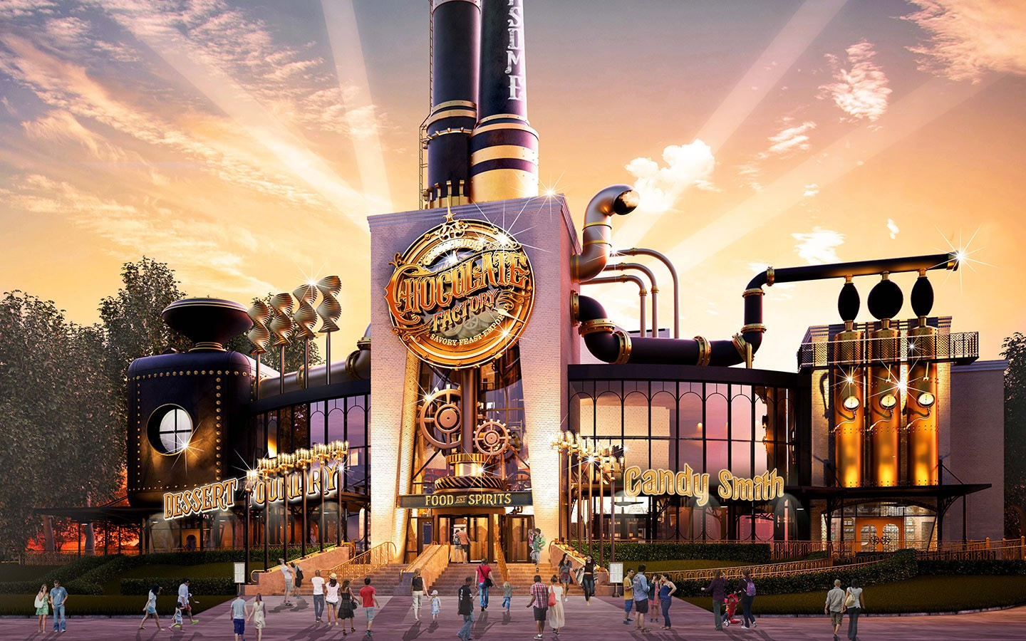 Universal Releases Details On New 39 Steampunk Era Chocolate Factory 39 C