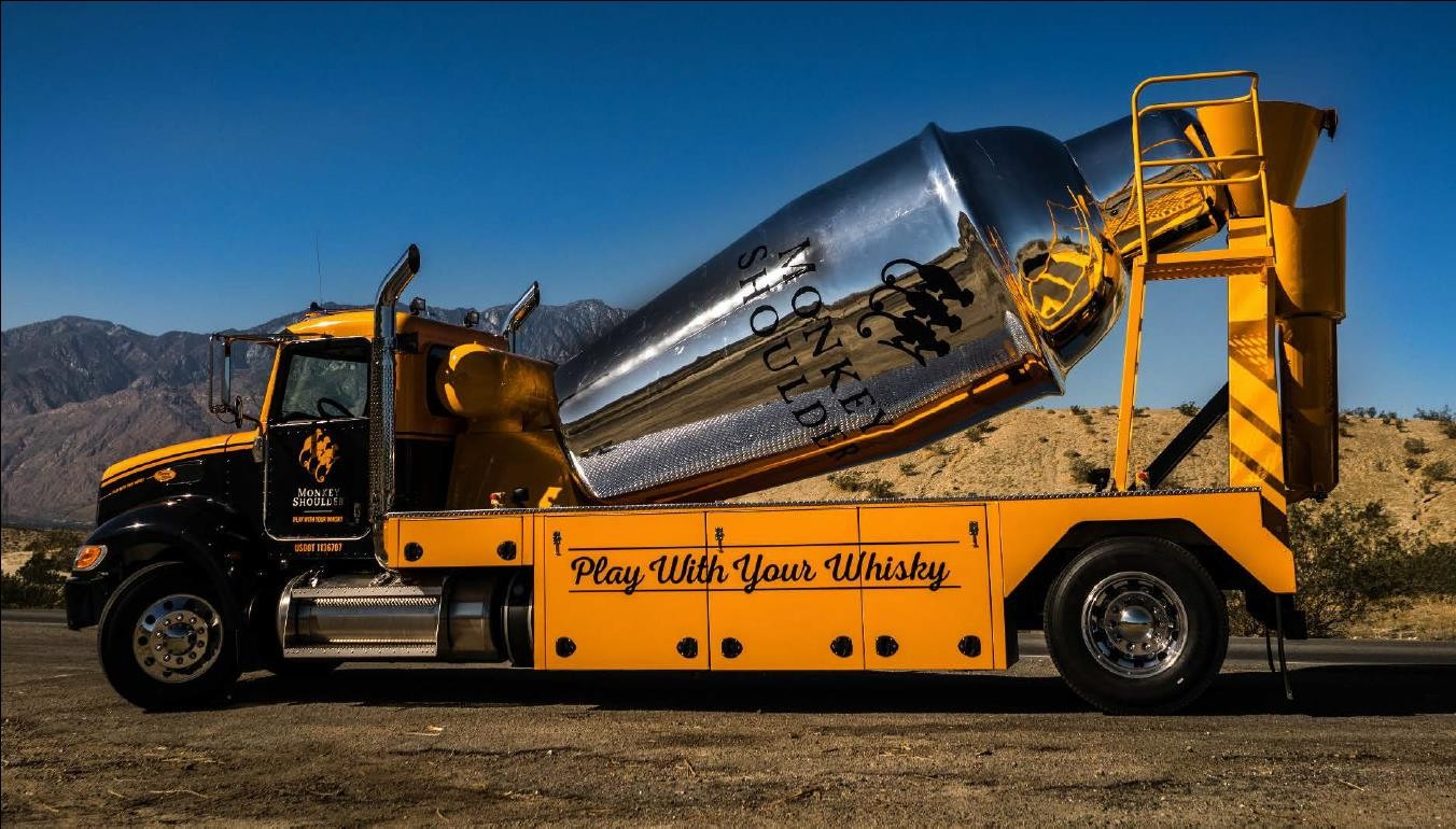 A giant mixing truck full of whiskey is coming to Orlando this week