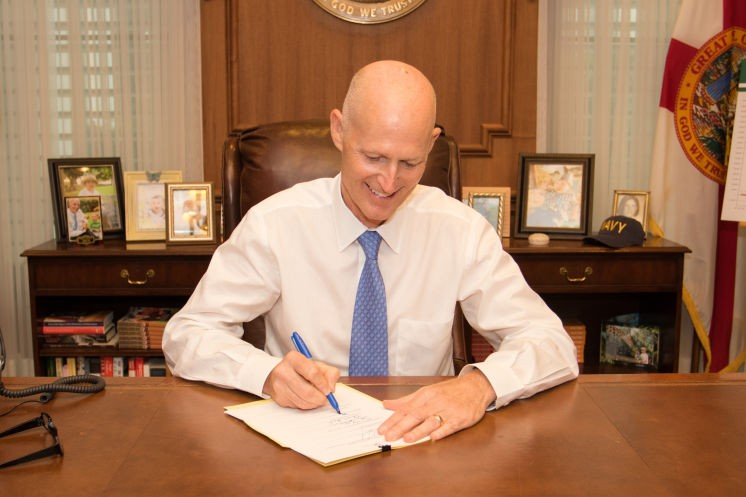PHOTO PROVIDED BY FLORIDA GOVERNOR RICK SCOTT'S OFFICE