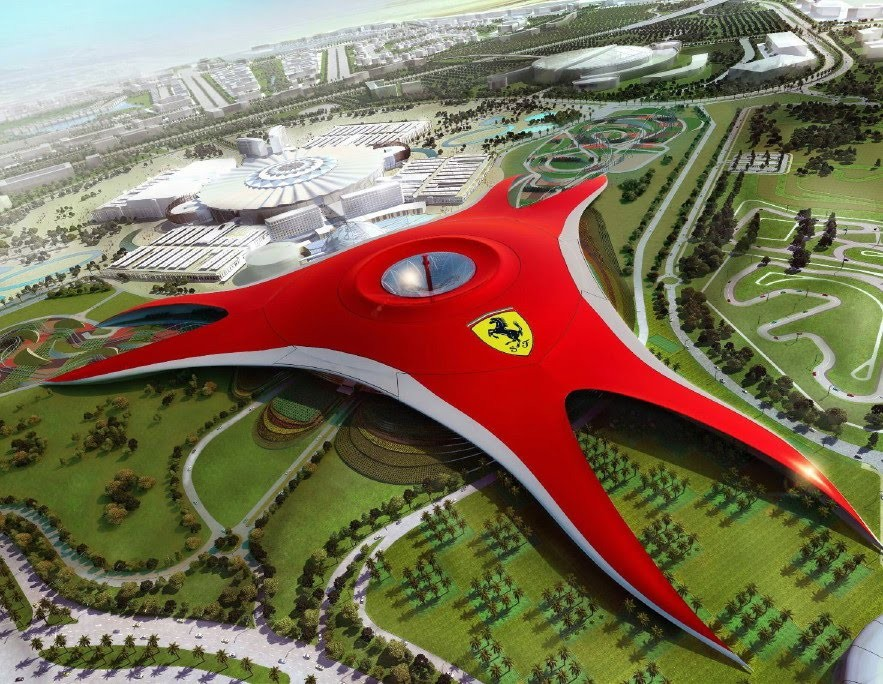 A Rendering From The Abu Dhabi Ferrari Theme Park