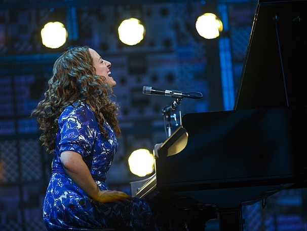 Abby Mueller as Carole King in the national tour of Beautiful: The Carole King Musical. The Fairwinds Broadway series presents Beautiful at the Dr. Phillips Center through May 8. - PRODUCTION PHOTO BY JOAN MARCUS VIA BROADWAY.COM
