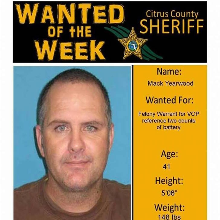 Citrus County man arrested after using his wanted poster as