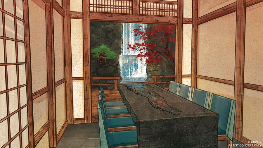 The Water Room at Epcot's Takumi-Tei - IMAGE VIA DISNEY PARKS BLOG