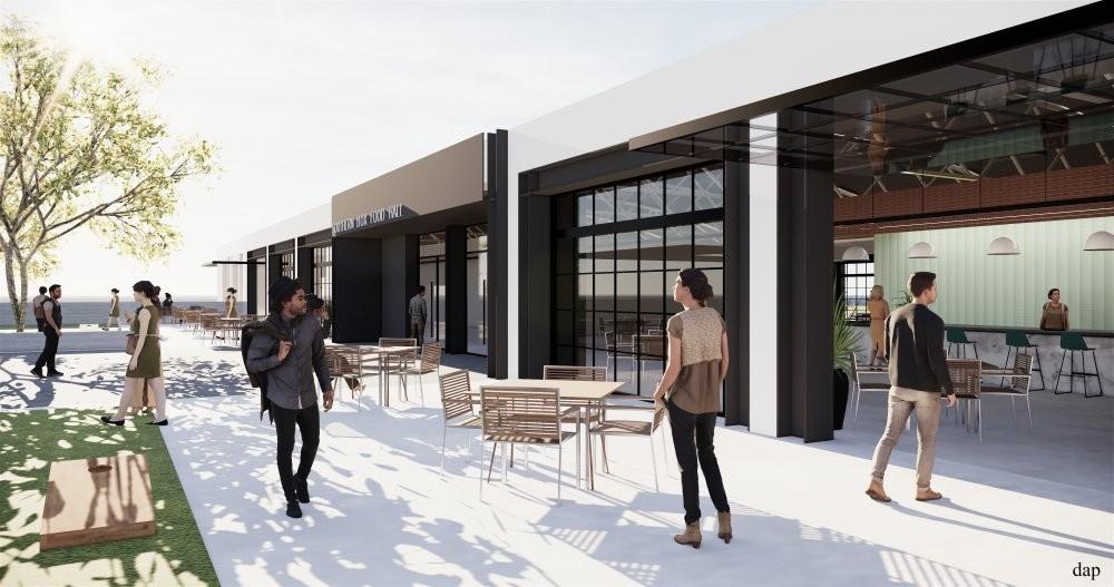 The space encourages indoor/outdoor foot traffic. - IMAGE VIA DAP DESIGN