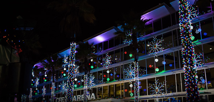 Photo via lightupucf.com - Snow Comes Down At Annual Light Up UCF Attraction Blogs