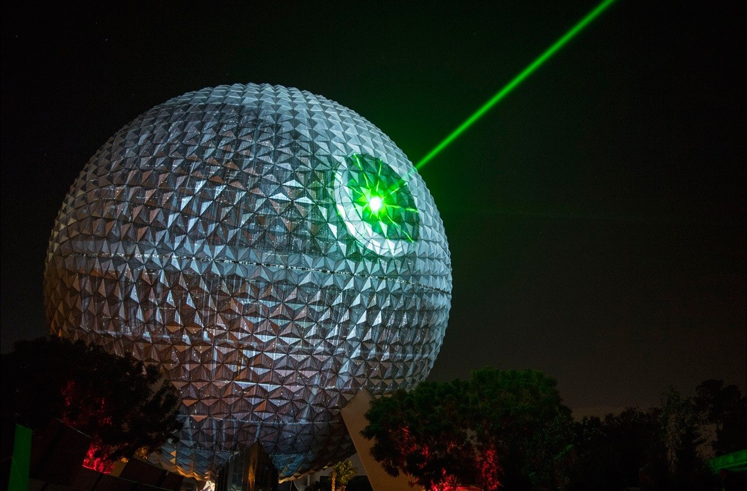 Epcot S Spaceship Earth Transformed Into The Death Star
