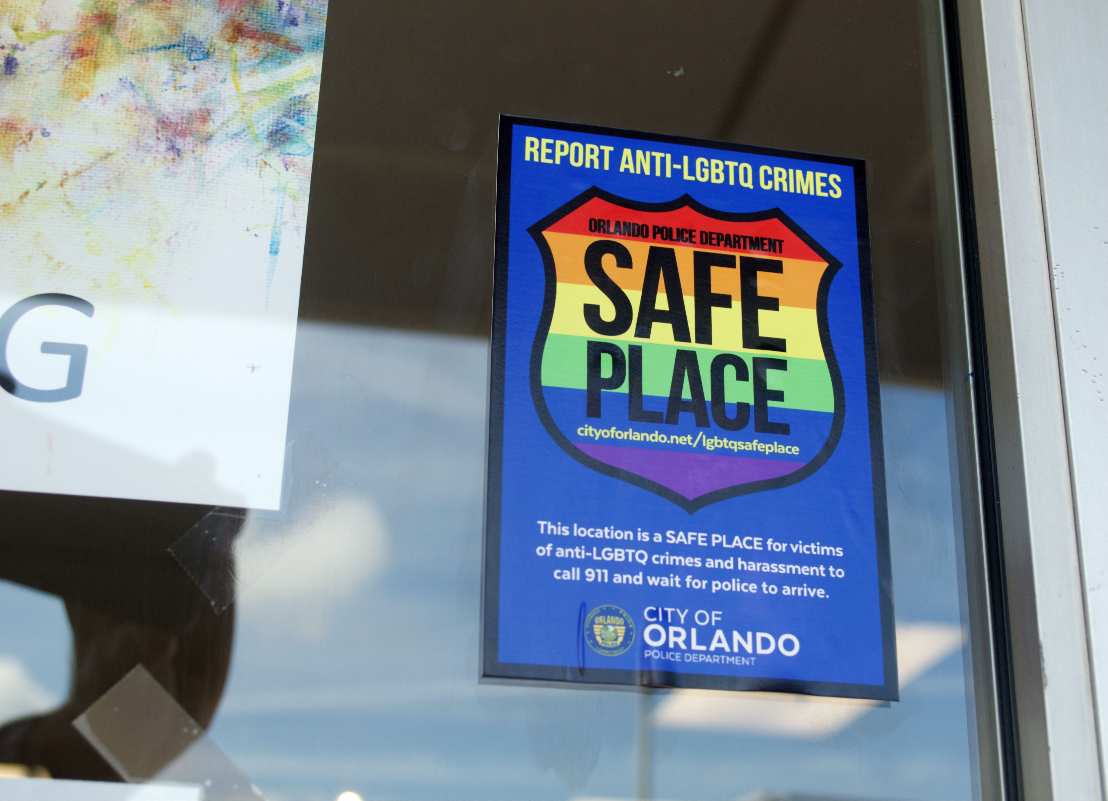 Orlando Police distribute LGBTQ 'safe place' decals to local