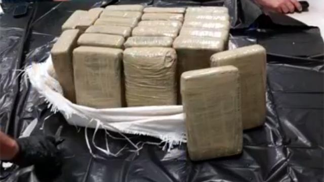 Not the cocaine Breeding found, but a ton of cocaine nonetheless - PHOTO VIA NBC 2