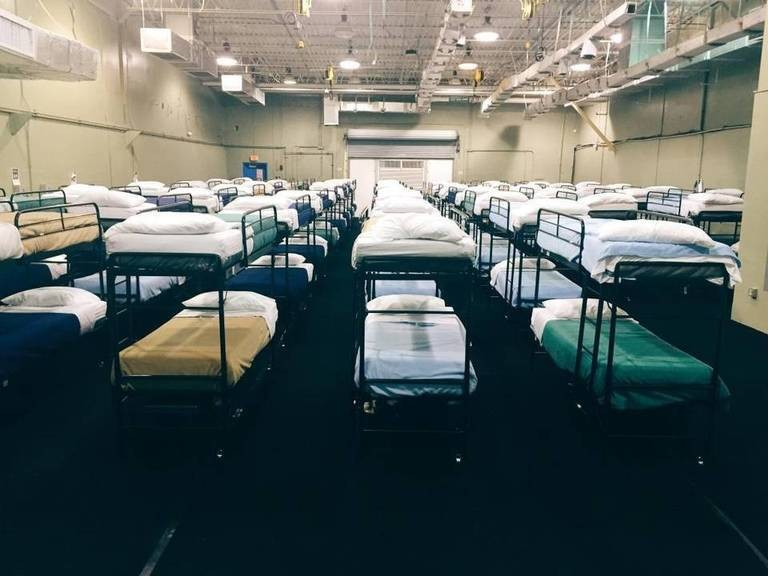 The Homestead compound for migrant children in 2016. - PHOTO VIA U.S. DEPARTMENT OF HEALTH AND HUMAN SERVICES