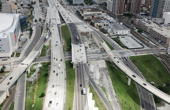I-4 under construction during I-4 Ultimate - PHOTO VIA FLORIDA DEPARTMENT OF TRANSPORTATION