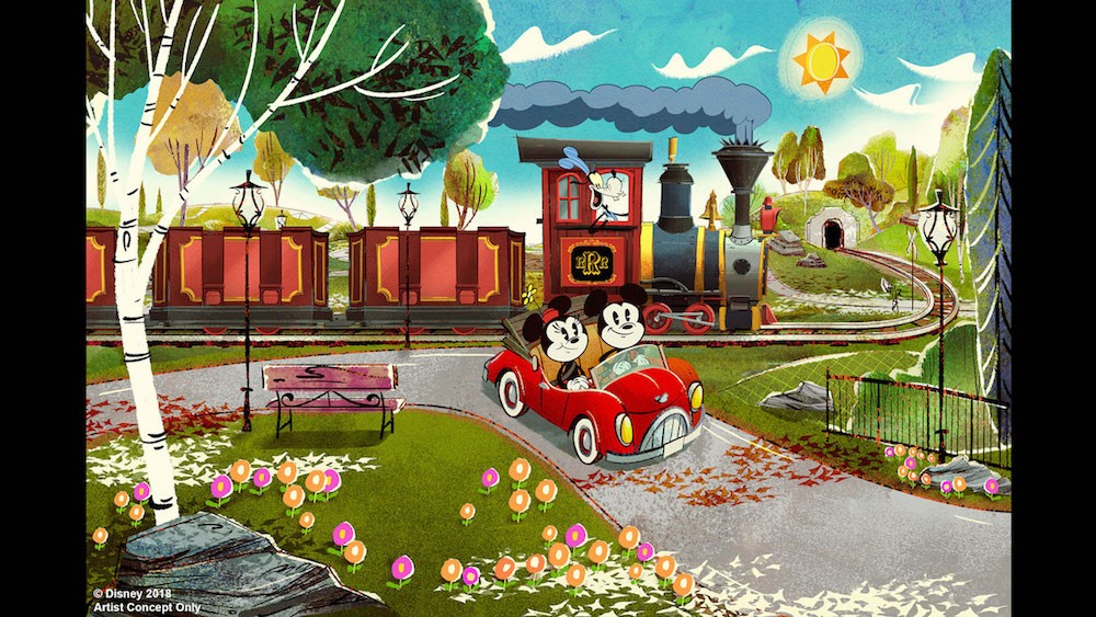 Concept art for Mickey and Minnie's Runaway Railway - IMAGE VIA DISNEY