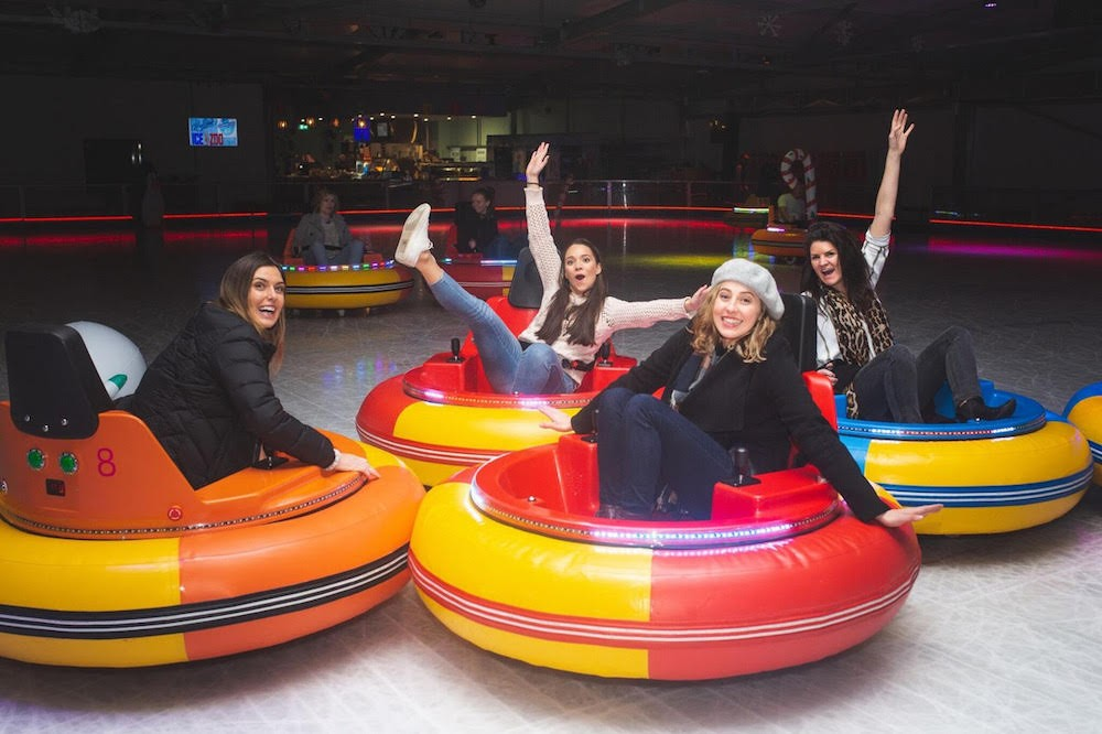 An nighttime ice rink with bumper cars is coming to Orlando
