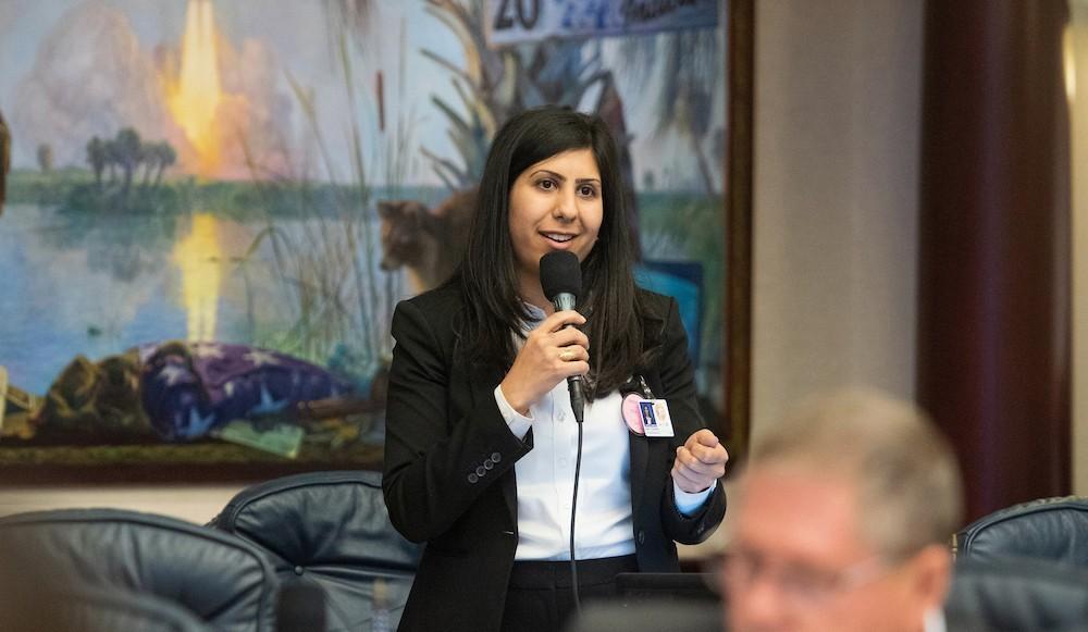 Rep. Anna V. Eskamani speaks during legislative session on April 3, 2019 - PHOTO COURTESY FLORIDA HOUSE OF REPRESENTATIVES