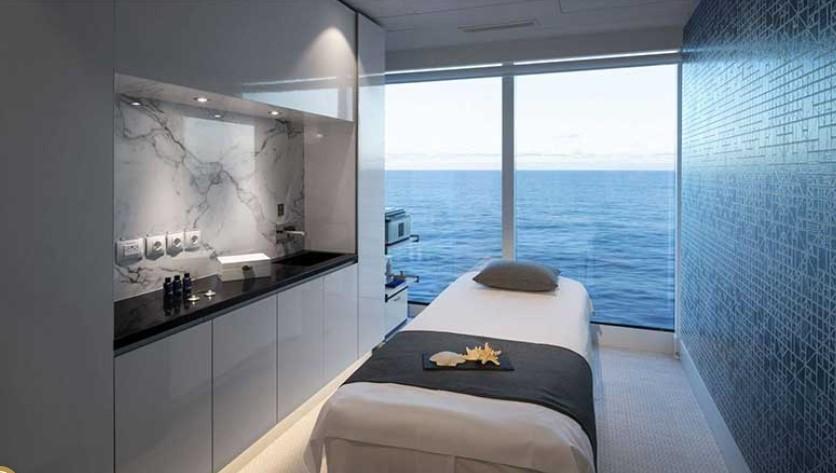 A spa treatment room onboard the Celebrity Edge - IMAGE VIA CELEBRITY CRUISES