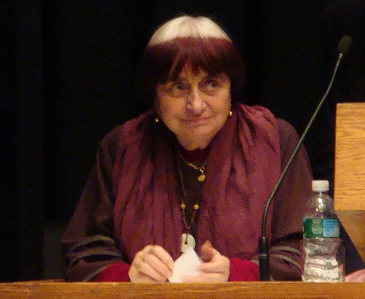 Agnès Varda speaking at a retrospective series at the Harvard Film Archive in 2009 - PHOTO VIA WIKIMEDIA COMMONS