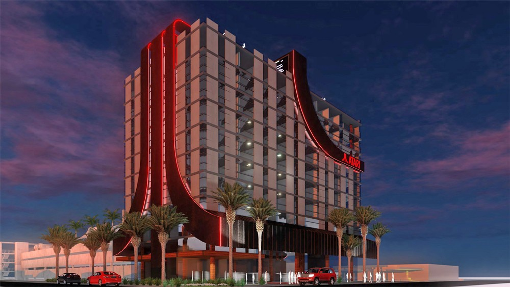 Artist rendering of the new Atari Hotel in Phoenix - IMAGE VIA ATARI HOTELS