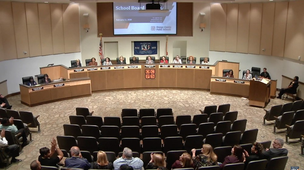 The Orange County School Board - PHOTO VIA OCPS/YOUTUBE