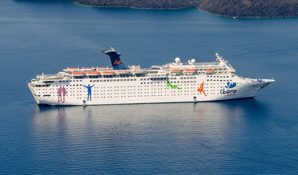 2012 photo of the Grand Celebration in Greece, then branded under Ibero Cruises - PHOTO BY NORBERT NAGEL/WIKIMEDIA COMMONS