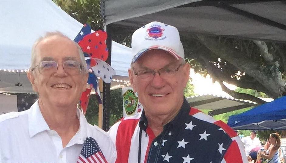 Lake County Supervisor of Elections Alan Hays (right) at a Leesburg 4th of July event in 2018 - PHOTO VIA LAKE ELECTIONS/INSTAGRAM