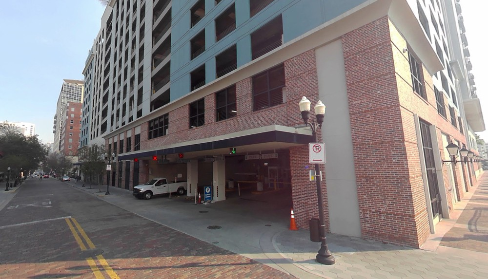 The 55 West Garage, at 60 W. Pine Street, is part of the program. - IMAGE VIA GOOGLE MAPS
