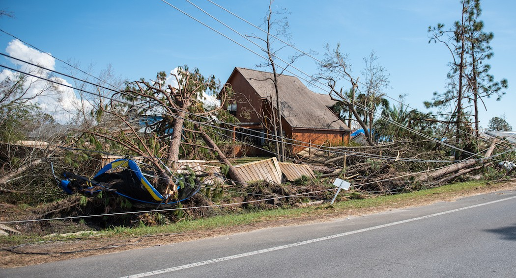 Hurricane Michael devastation in the Florida Panhandle - PHOTO VIA ADOBE STOCK