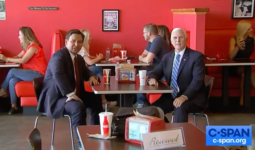 DeSantis and Pence met in Orlando in May - SCREENSHOT VIA CSPAN