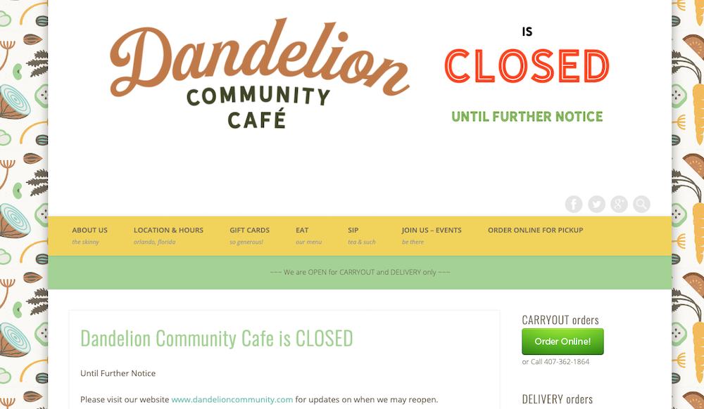 SCREENSHOT COURTESY DANDELION COMMUNITY CAFE
