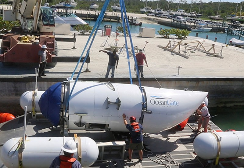 The Titan submersible in the Bahamas - IMAGE VIA OCEANGATE EXPEDITIONS