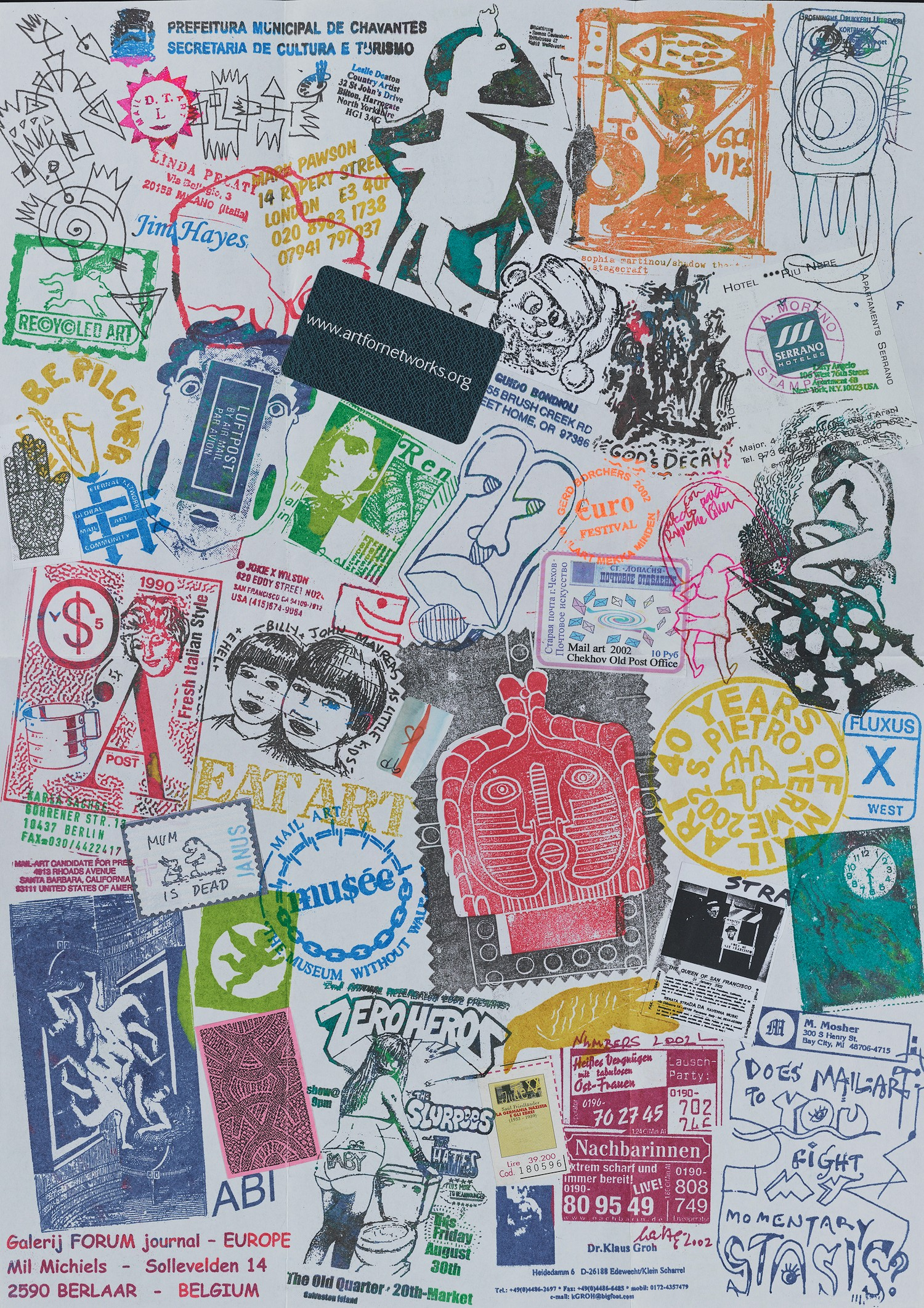 Ryosuke Cohen mail art to John Evans, 2002 (ongoing project since 1985). John Evans papers, Archives of American Art, Smithsonian Institution. - JOHN EVANS PAPERS, ARCHIVES OF AMERICAN ART, SMITHSONIAN INSTITUTION.