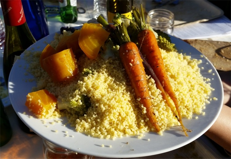 Couscous with carrots, beets, broccoli and cauliflower (Syria)